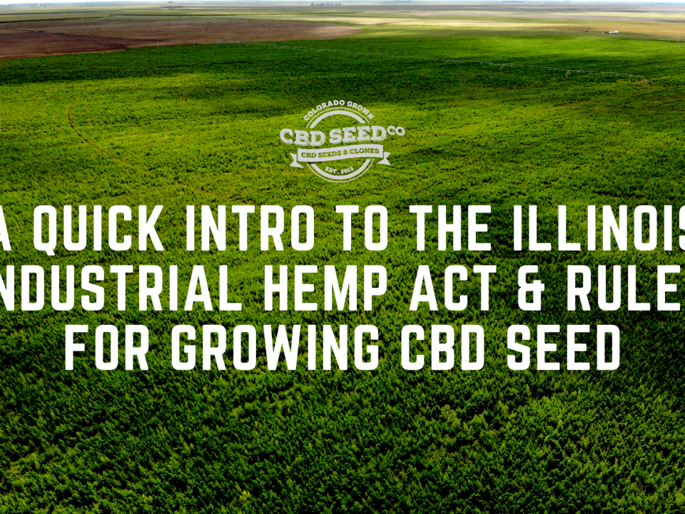 illinois hemp act rules growing cbd seed