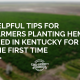 tips planting hemp seed kentucky